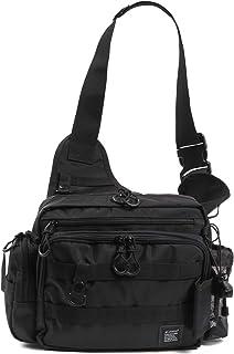 Leastat フィッシングバッグ ロッドホルダー付き 大容量 軽量 ワンショルダー バッグ タックルバッグ ランガン バッグ
