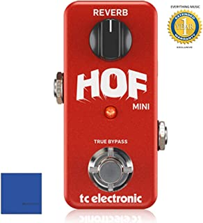 TC Electronic HOF Mini Reverb pedal with Microfiber and 1 Year Everything Music Extended Warranty