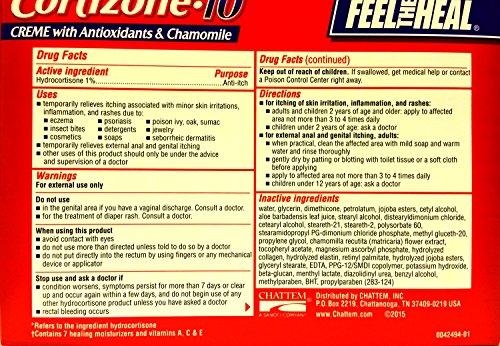 Cortizone-10 Max Strength Cortizone-10 Intensive Healing Formula with Antioxidants and Chamomile, Two 2 oz Tubes
