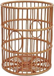 XINYALAMP Panier de Rangement en rotin Panier Magazine Panier Laundry Basket Toy boîte à Gants Basket-Tissés à la Main (Co...