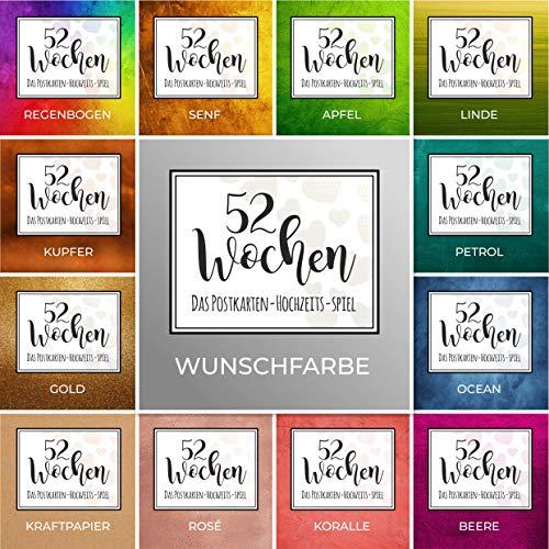 52 Wochen Hochzeits-Spiel (Postkarten 300g.) (INDIVIDUELL)