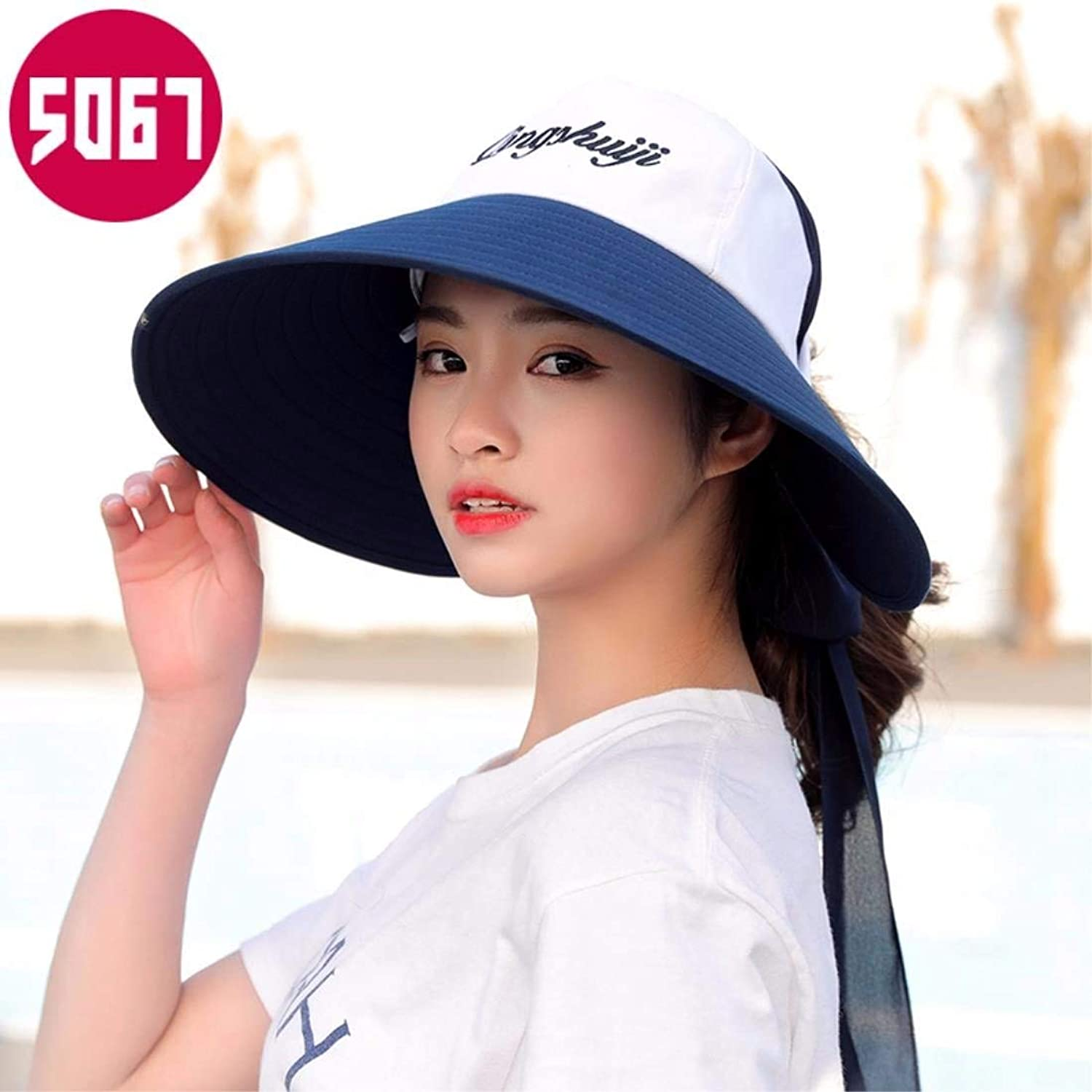 Beach Hat Woman Hat Summer Sunscreen Cap Outdoor Face AntiUv Cap White Summer Sun Hat