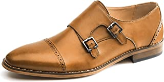 GOLAIMAN Men's Dress Shoes Monk Strap Buckle Loafers Slip on Oxford Shoes
