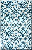 Mia Home Colletion Zara - Tappeto in lana, fatto a mano, 120 cm di larghezza x 170 cm di lunghezza, colore: Turchese