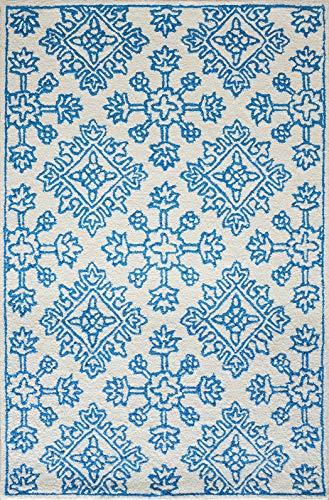Mia Home Colletion Zara - Alfombra de lana (120 x 170 cm), color turquesa