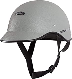 Habsolite All Purpose Half Face Safety Helmet with Quick Release Strap for Men & Women (Grey, Free Size)