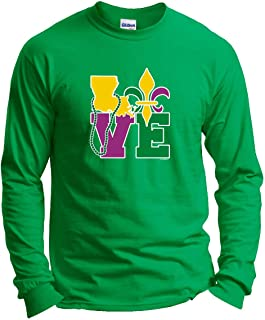 Mardi Gras Outfit Louisiana Love Mardi Gras Clothes Long Sleeve T-Shirt