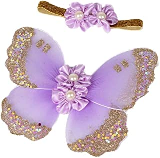 Baby Girl Headband with Butterfly Wing Costume Photo Prop Outfit