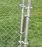 Self Closing gate Closer. Automatic gate Closer. Adjustable Closing Tension. This Sta-Klos gate Closer Works Great for Any Chainlink gate up to 4 Foot Wide. (Silver)