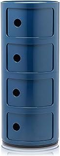 Kartell Componibili, Conteneur 4 Éléments, Bleu, Base Ronde