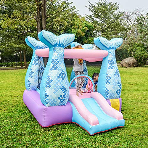 Opblaasbare Kasteel Bouncer voor kinderen/peuters/Baby, met 75cm lengte Slide en hoogwaardige Air Blower, Indoor Outdoor Garden Fun Toys Herbruikbare, Gift Party