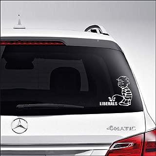 DIY_Vinyl Laptop Stickers - Donald Trump Piss On Liberals - Vinyl Decal for Car Window Bumper Cup Safe Decor Door Custom Sticker BT2836