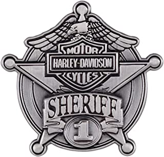 Harley-Davidson Sheriff Antique Nickel Pin, 1-9/16'' W x 1-1/2'' H P1264064