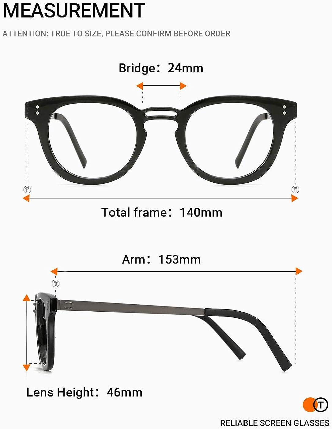 TIJN Blaulicht-Schutzbrille f/ür Damen Herren Computer-Brillen,Brillen mit Blendschutz