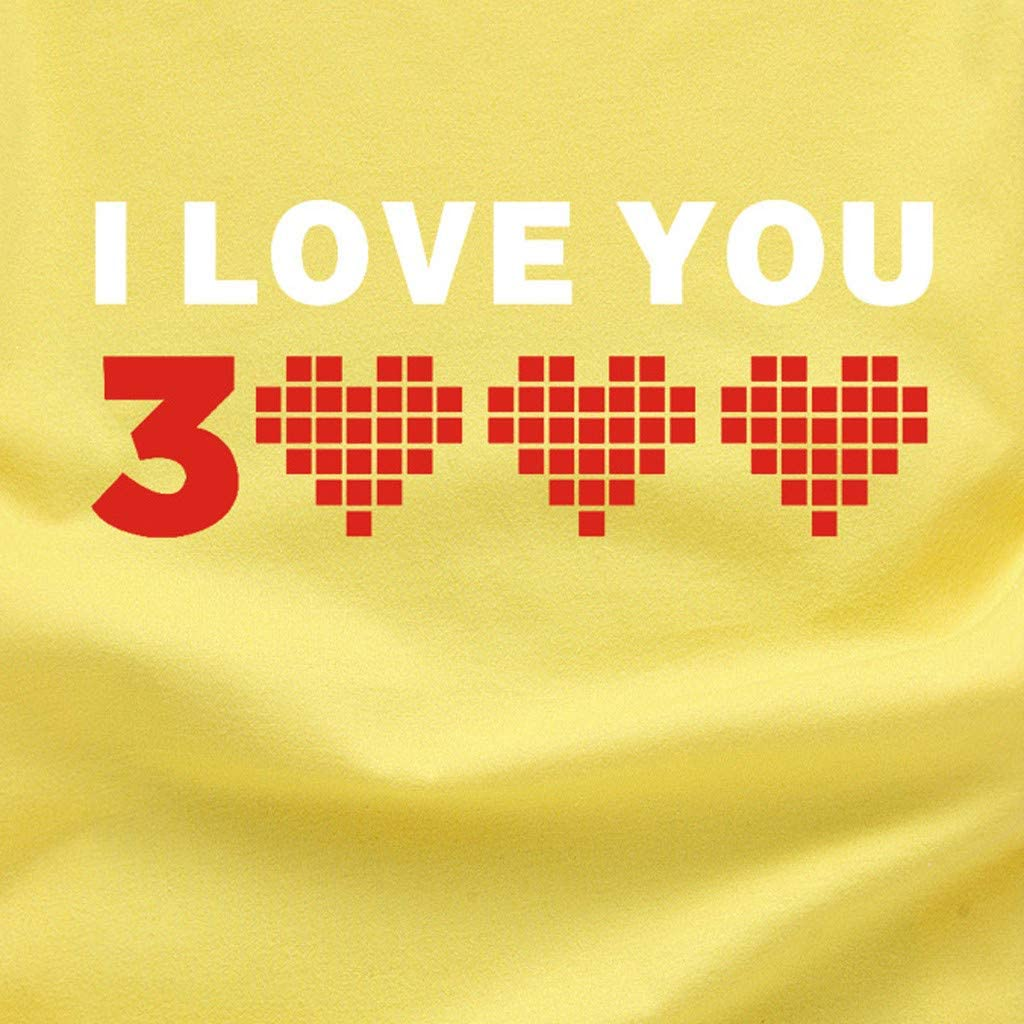 DFHYAR Womens Summer Casual Short Sleeve Print I Love You 3000 Top Tee Graphic Cute T-Shirt