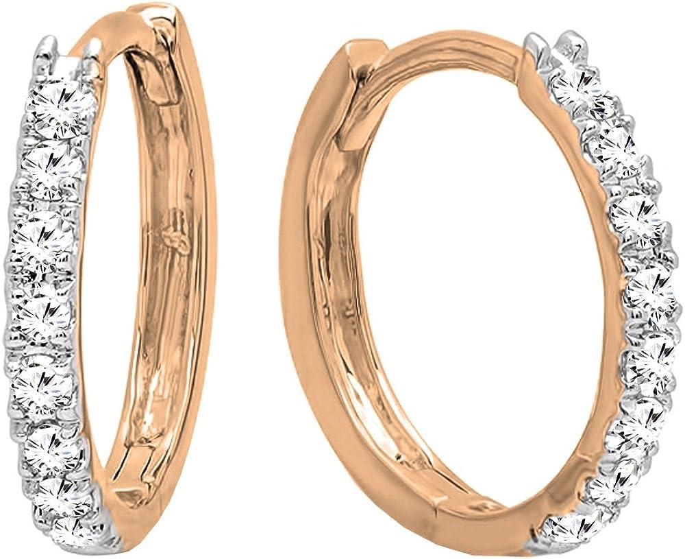 Dazzlingrock Collection 10K Gold 祝開店大放出セール開催中 Round Hugg Ladies Diamond 商い White