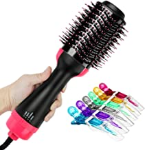 One Step Hot Air Brush, Leegoal Hair Dryer & Styler & Volumizer 2-in-1 Multi-functional High-power Salon Negative Ion Hair Straightener & Curly Hair Comb with Anti-Scald Feature for All Hair Type
