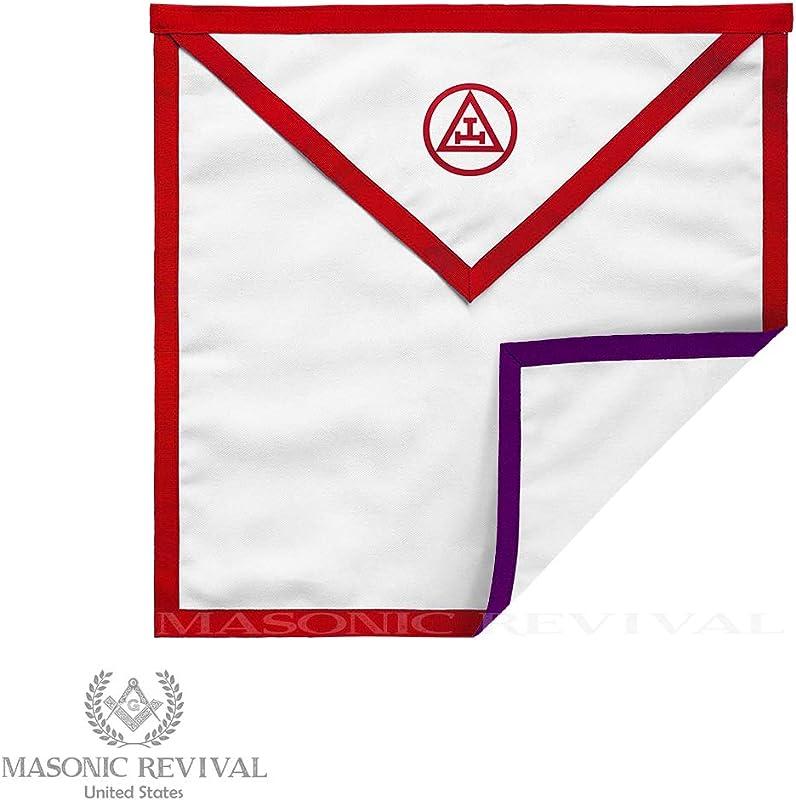 Masonic Revival Reversible Royal Arch Council Member Apron Cotton