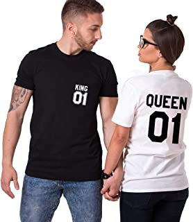 King Camiseta Pareja Shirts Queen 2 Piezashttps://amzn.to/2LnxbfS