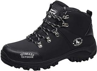 HUADUO Bottes de randonnée imperméables à la Cheville pour Hommes Chaussures légères d'extérieur