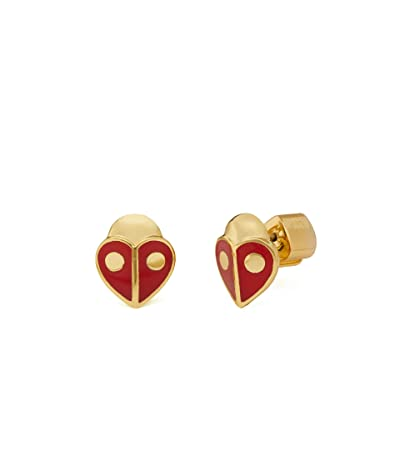 Kate Spade New York Animal Party Ladybug Studs Earrings (Red) Earring