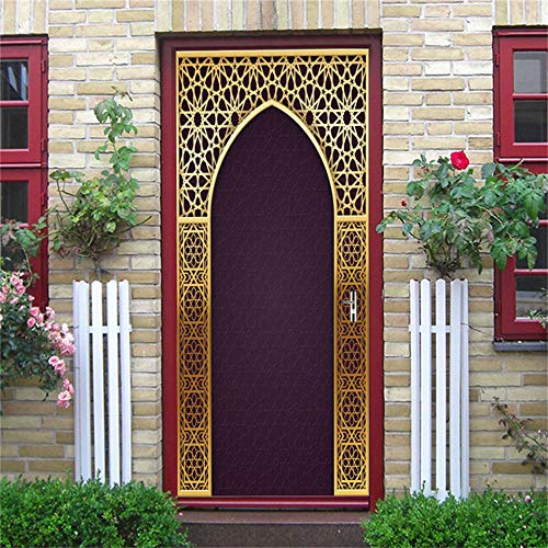 Door Mural Wall Sticker Door 3D Door Sticker Home Decoration Self-Adhesive PVC Stickers