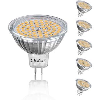Yafido 6x Mr16 Led 12v Bulbs Gu5 3 Cool White 5w Replace 35w Halogen Gu 5 3 Mr 16 Spot Light 4000k Neutral White 420 Lumens 120 Beam Angle O50 X 48 Mm Pack Of