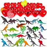 ThinkMax 24 Packs Dinosaurs Party Supplies Toys, Birthday Decorations School Game Prizes Carnivals Gift for Kids Boys Girls Dino Lovers Fans