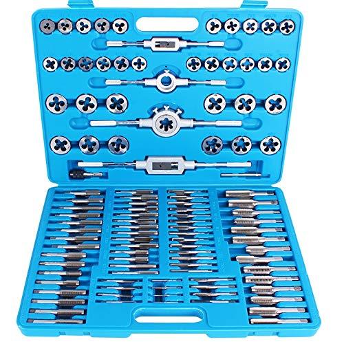 TECPO Gewindeschneider Set 110-teilig Fein Gewinde Bohrer KFZ Werkzeug Bohren