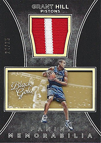 GRANT HILL 2015-16 Panini Black Gold Basketball VINTAGE MEMORABILIA (2-Color Jersey Patch) NBA Insert Collectible Basketball Trading Card #24/25