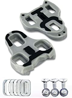 Bike Cleats Compatible with Look Keo Grip Road Cleats Grey 4.5 Degree Float
