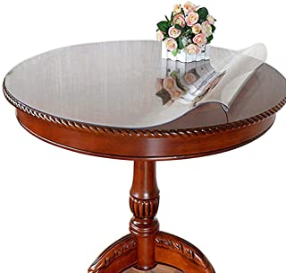Ever Fairy Nappe de table ronde transparente en PVC imperméable, protection imperméable pour bureau, taille personnalisabl...
