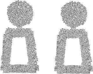 Letter Earrings Women Earrings Solid Earrings Charming Earrings Sparkly Earrings Pretty Earrings Earrings for Holiday Long...