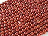 Beads Ok, Abalorios Cuentas Piedra Semipreciosa Jaspe Rojo Calidad AB Naturales Esferas Bola Redonda 4mm~38cm un Tira, Vendido por Tira. 4mm Round Natural Red Jasper AB Grade Gemstone Beads