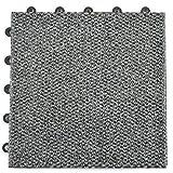 Greatmats Modular Carpet Tile, Durable Snap Together 1x1 Ft x .5 Inch Carpet Tiles for Basement Flooring, 20 Pack (Gray)
