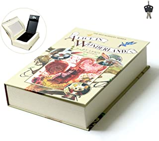 Caja Seguridad Para Libros El Diccionario Llaves Caja Dinero Desviación Caja Seguridad Portátil Caja Falsa Para Guardar Libros Falsos Caja Almacenamiento Joyas Contiene 2 Llaves AliceInWonderland