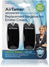 AirTamer Advanced Personal Air Purifier Replacement Negative Ion Emitter Covers Black 2 Pack - Made Model A315