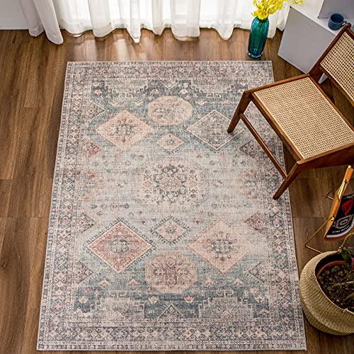 Decomall Boho Teppich Orientalischer Shmily-Kollektion Wohnzimmer Beige 160x230cm