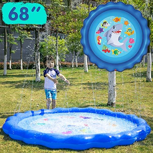 JOYIN Sprinkler & Splash Play Mat 68 Outdoor Water Sprinkler Toys for Kids Toddlers Splash Pad