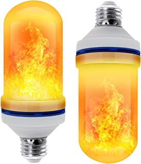 CPPSLEE - LED Flame Effect Light Bulb - 4 Modes with Upside Down Effect -2 Pack E26 Base LED Bulb - Flame Bulbs for Christmas Decorations /Hotel/Bar Christmas Party Decoration