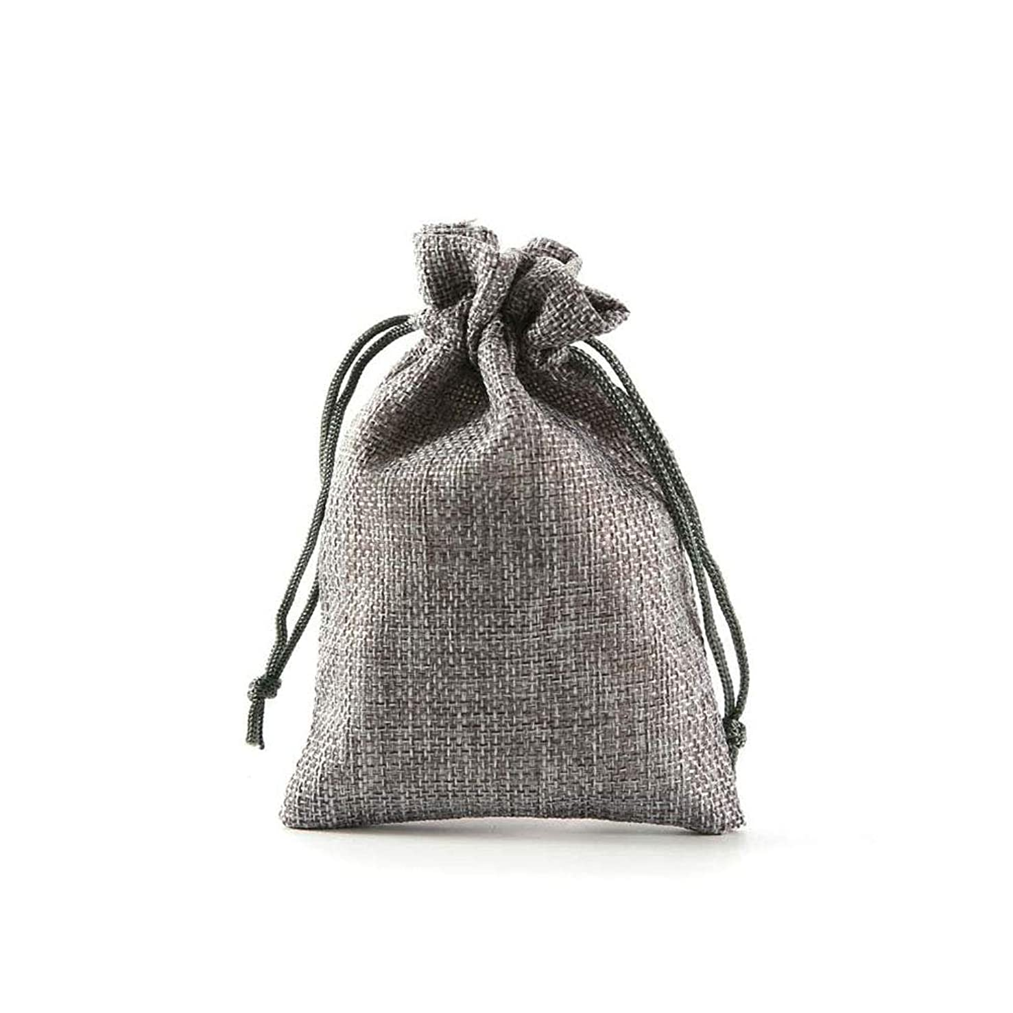 HDHAO 20 pcs Drawstring Gift Bags, Ideal Storage Bags, Storage of Jewelry, Cosmetics, Gifts, Candy, Coins, Plant Seeds, Spices, etc. 10 Colors (Silver Gray)