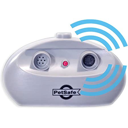 PetSafe Indoor Ultrasonic Dog Bark Control - No Collar Needed - Up to 25 ft Range - Anti-Bark Pet Training System - Automatic with Manual Trainer Button