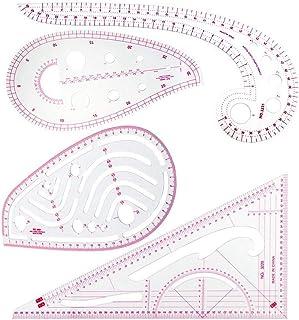 TOOGOO 縫製定規セット(4本) - メトリック定規セット、フレンチ カーブ パターン グレーディング定規、デザイナーのための製図図製図測定テンプレートツール、4スタイル