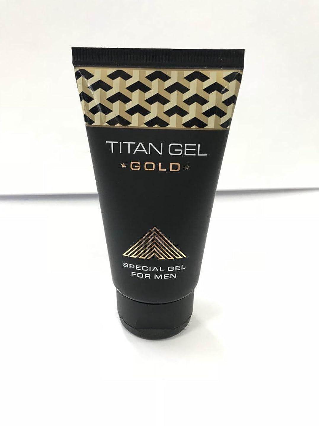 不格好高い幼児タイタンジェル ゴールド Titan gel Gold 50ml 4箱セット 日本語説明付き [並行輸入品]