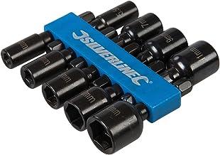 Silverline 855189 steeksleutel, magnetisch, 9-delig set, zwart
