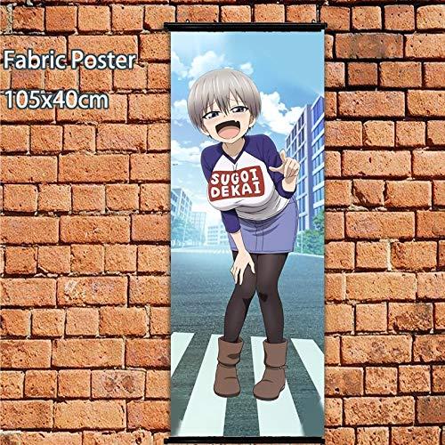 Henanyimeixiang Póster de Anime Uzaki-Chan Quiere Pasar el rato Sugoi Dekai Rollo de Pared 105x40cm Impresiones artísticas decoración de la habitación del hogar DesignA