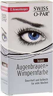 Swiss O Par Eyelash and Brow Dye Tint Color Kit (Brown)