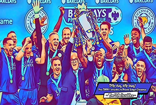 Leicester City FC The Unbelievables Comic Icons Art Print 4 Formats Poster Canvas Foamboard Acrylic 3 Sizes Small 12x8 inches Medium 16x12 inches Large 24x16 inches