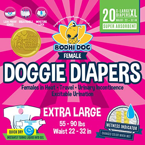 Disposable Dog Female Diapers | 20 Premium Quality Adjustable Pet Wraps with Moisture Control &...