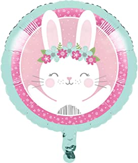 1st Birthday Bunny 46cm Metallic Balloon (1)